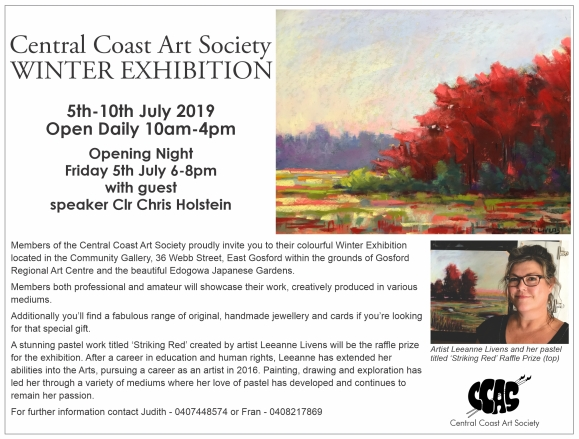 Central Coast Art Society Winter Exhibition 2019 Media Release